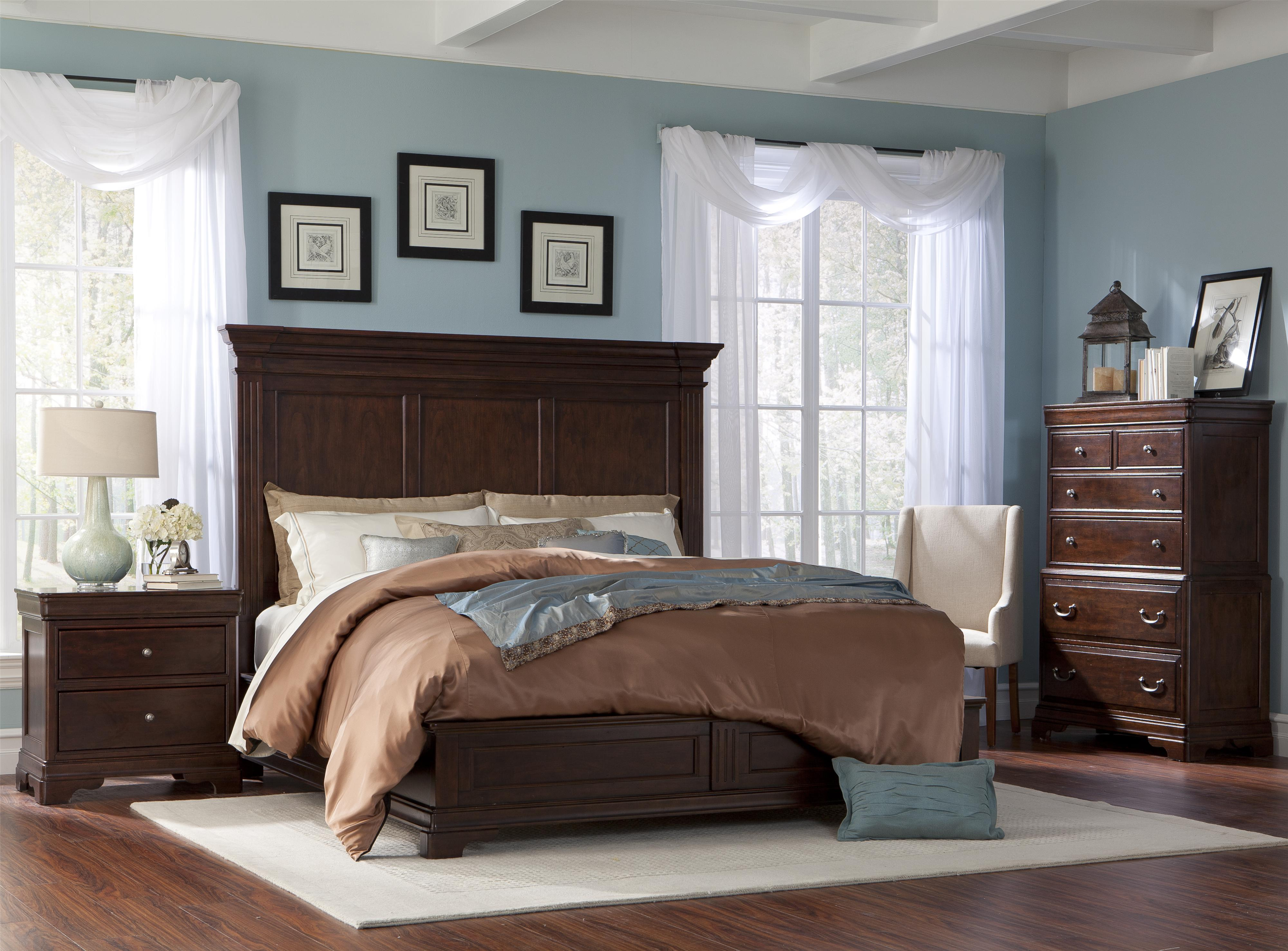 Cresent Fine Furniture Provence Queen Bedroom Group - Item Number: 1700 Q Bedroom Group 1