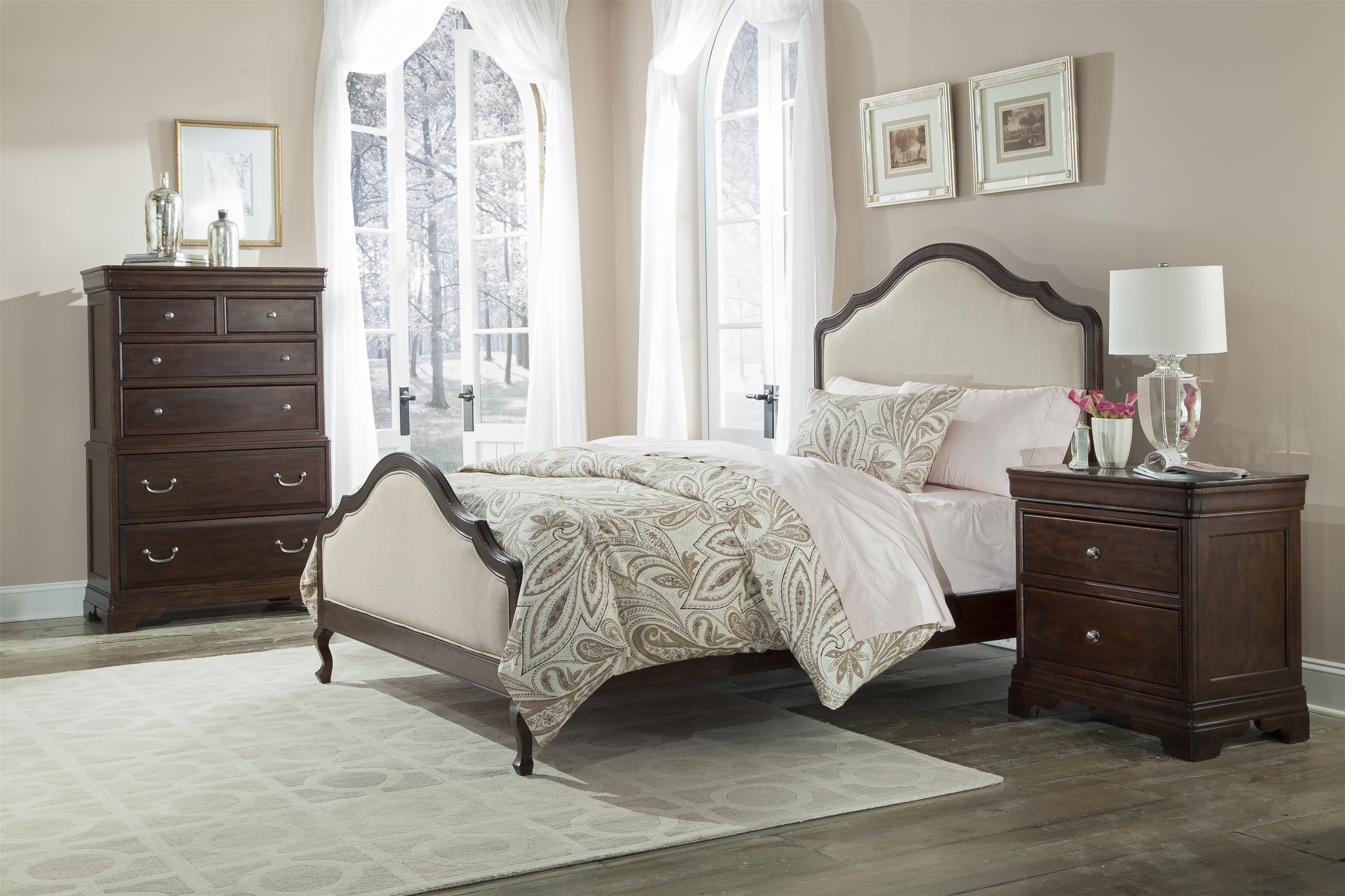 Cresent Fine Furniture Provence Queen Bedroom Group - Item Number: 1700 Q Bedroom Group 3