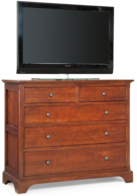 Cresent Fine Furniture Retreat Cherry Media Dresser - Item Number: 1503