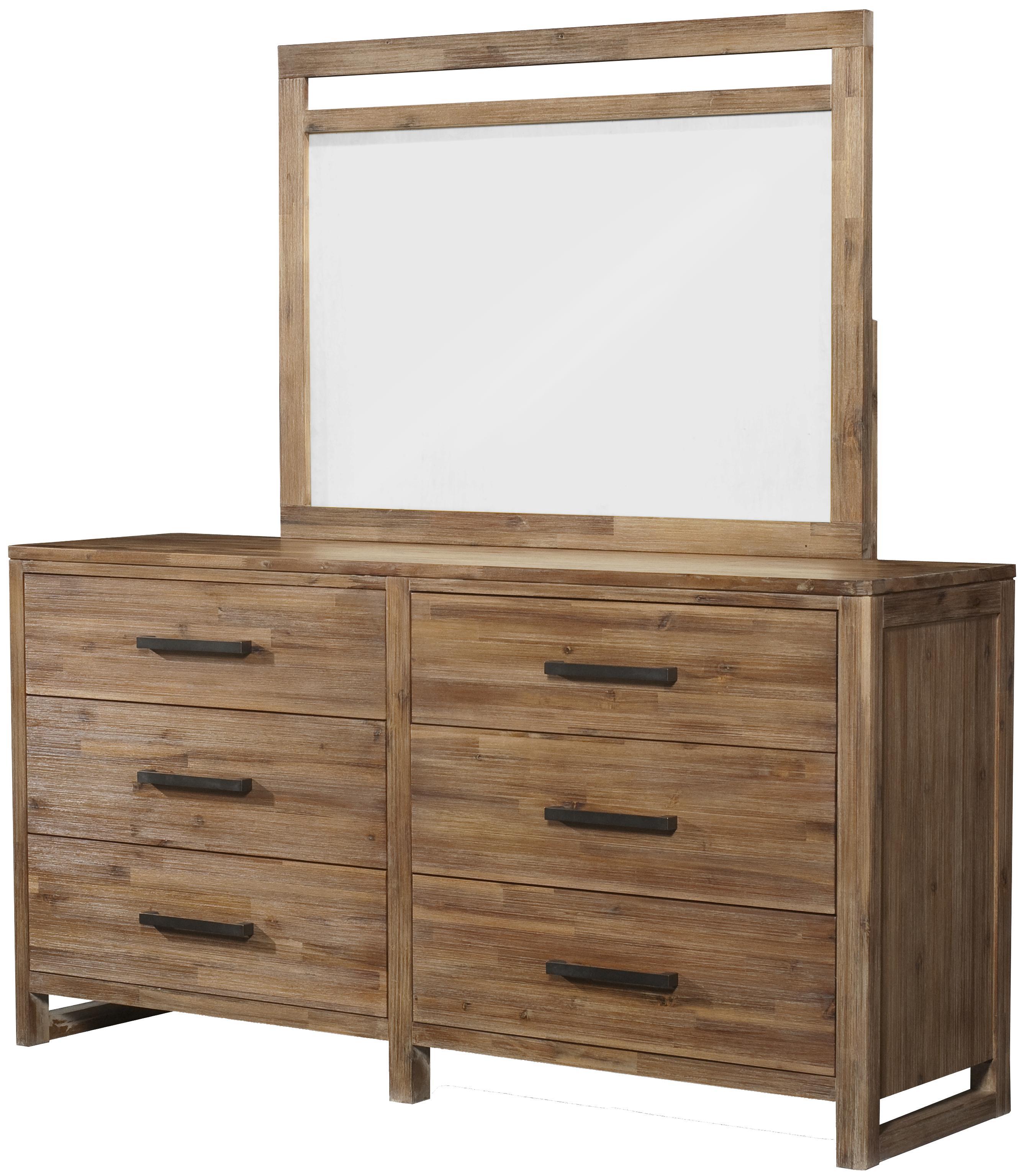 Cresent Fine Furniture Waverly Dresser & Mirror - Item Number: 5501+5502