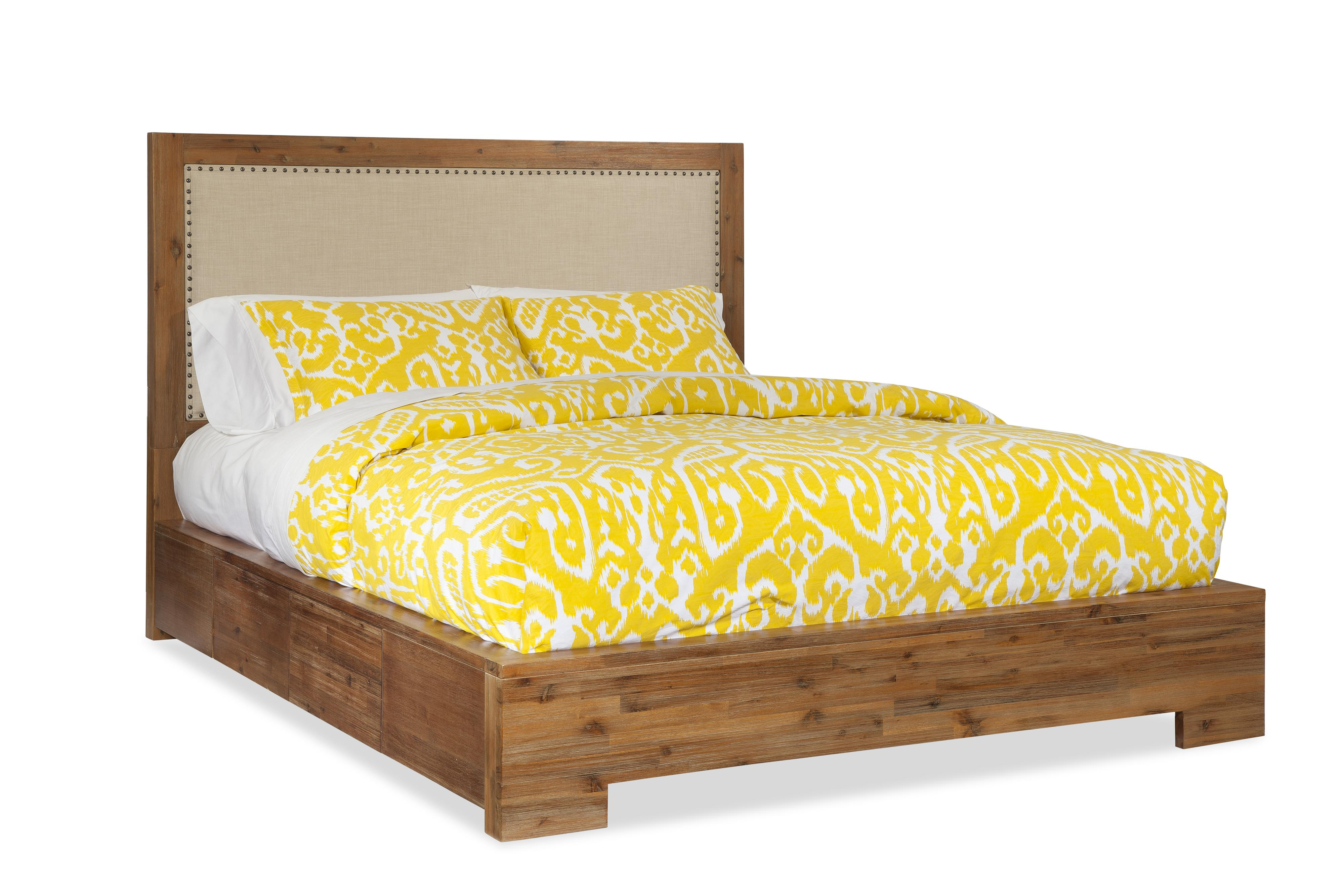 Cresent Fine Furniture Waverly Queen Upholstered Bed w/ Storage - Item Number: 5533QB+5531QRL+QRS+QSL