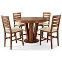 Cresent Fine Furniture Waverly 5 Piece Counter Height Table and Chair Set - Item Number: 5561+P+4x8
