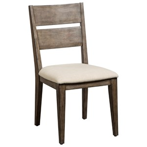 West End Solid Spruce Side Chair with Upholstered Seat by Cresent Fine Furniture