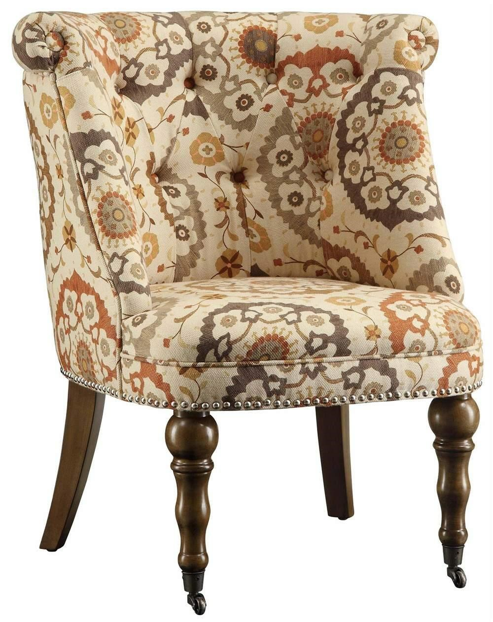 Crestview Collection Accent Furniture Hutchison Pattern Chair - Item Number: CRES-CVFZR1303