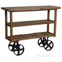 Crestview Collection Accent Furniture Bengal Manor Mango Wood Industrial Cart - Item Number: CVFNR302