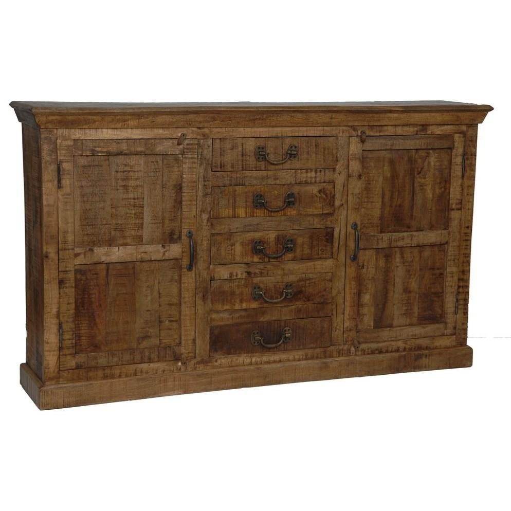 Bengal Manor Mango Wood 5 Drawer 2 Door Side