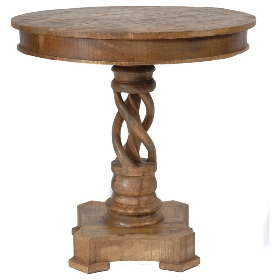 Accent Furniture Bengal Manor Mango Wood Twist Accent Table by Crestview Collection at Factory Direct Furniture