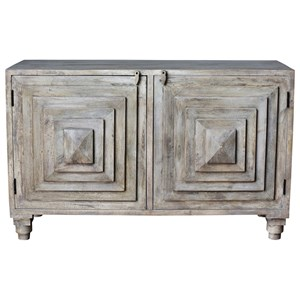 Crestview Collection Accent Furniture Bengal Manor Mango Wood 2 Stacked Pyramid Do