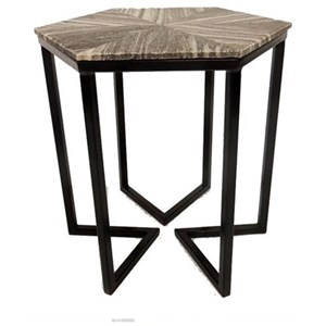 Crestview Collection Accent Furniture Bengal Manor Shaped Iron Base Hexagon  Accent