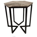 Crestview Collection Accent Furniture Bengal Manor Shaped Iron Base Hexagon Accent - Item Number: CVFNR345