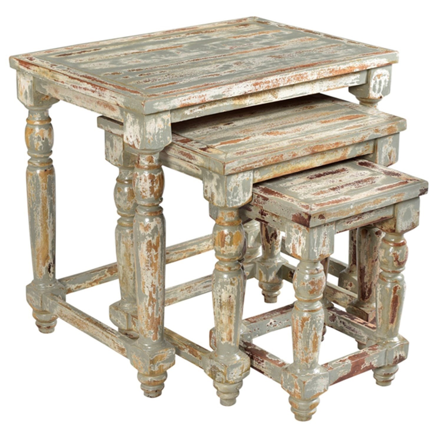 Mango Wood Coffee Table Distressed Gray: Crestview Collection Accent Furniture Bengal Manor Mango