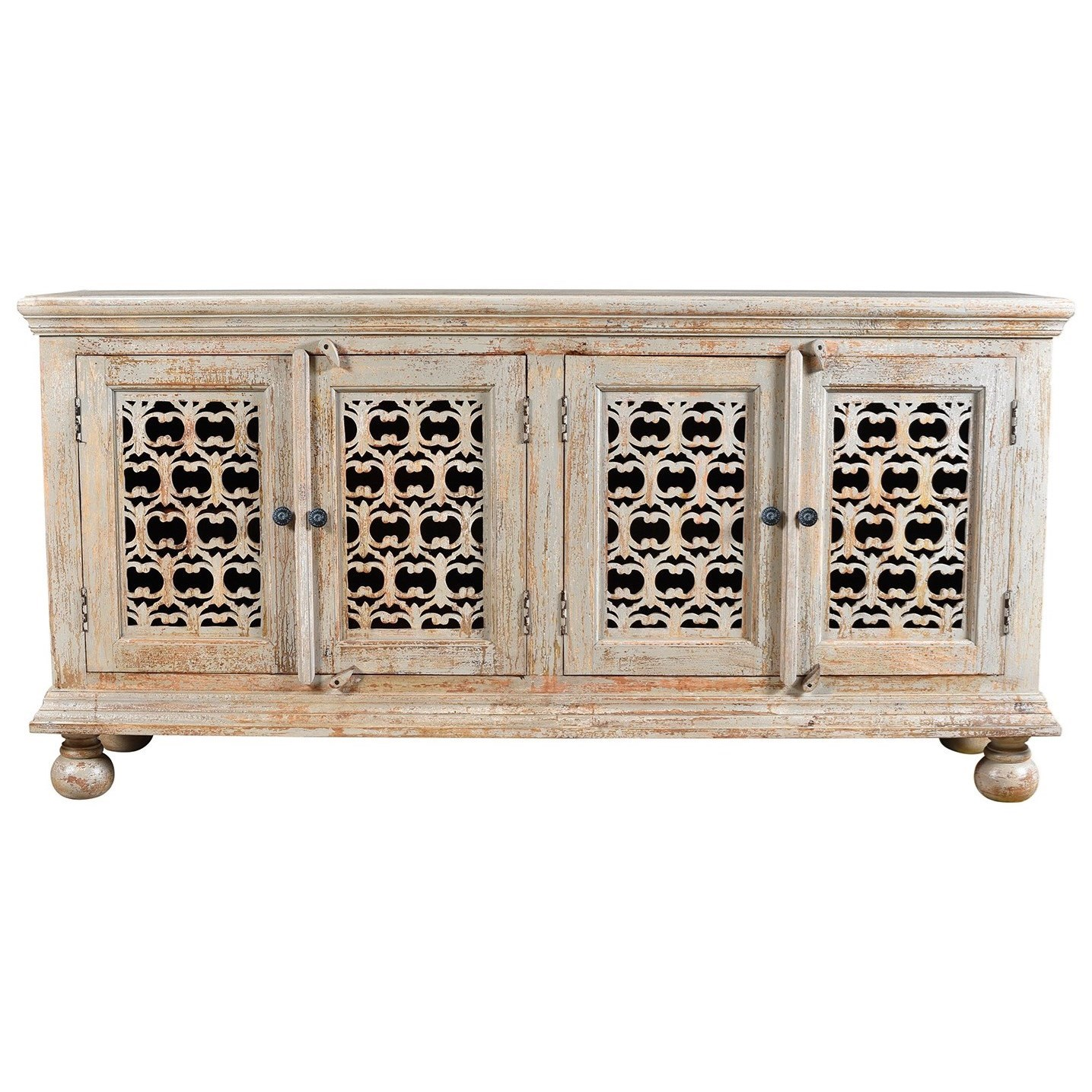 Bengal Manor Mango Wood Aged Ash 4 Door Carv