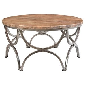 Crestview Collection Accent Furniture Bengal Manor Mango Wood and Steel Round Cock