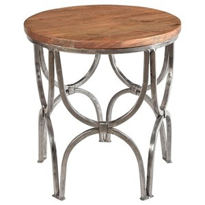 Crestview Collection Accent Furniture Bengal Manor Mango Wood And Steel  Round End