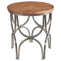 Crestview Collection Accent Furniture Bengal Manor Mango Wood and Steel Round End  - Item Number: CVFNR364