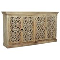 Crestview Collection Accent Furniture Mango Wood 4 Door Sideboard - Item Number: CVFNR450