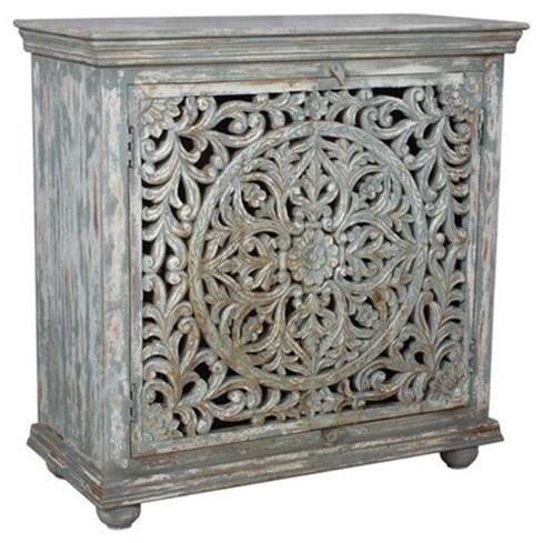 Mango Wood Carved Cabinet