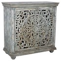 Crestview Collection Accent Furniture Mango Wood Carved Cabinet - Item Number: CVFNR458