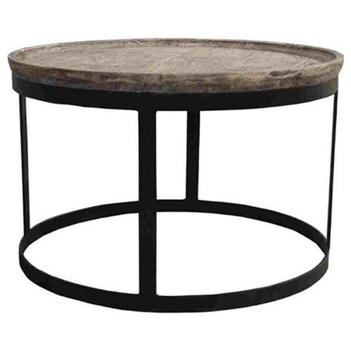 Accent Furniture Mango Wood and Metal End Table by Crestview Collection at Factory Direct Furniture
