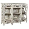 Crestview Collection Accent Furniture Mango Wood 6 Drawer Console - Item Number: CVFNR466