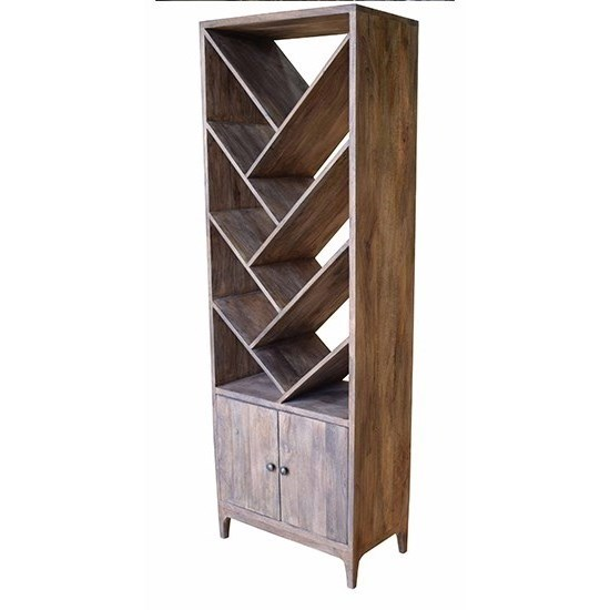 Accent Furniture Mango Wood 2 Door Etagere by Crestview Collection at Factory Direct Furniture