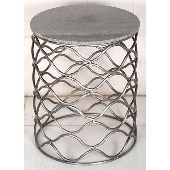 Solid Iron Accent Table