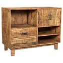 Crestview Collection Accent Furniture Mango Wood Offset Console - Item Number: CVFNR485