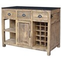Crestview Collection Accent Furniture Mango Wood and Granite Island - Item Number: CVFNR490