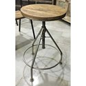Crestview Collection Accent Furniture Mango Wood and Metal Barstools - Item Number: CVFNR491