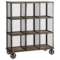 Crestview Collection Accent Furniture Industria Metal And Wood Bookcase - Item Number: CVFZR1004