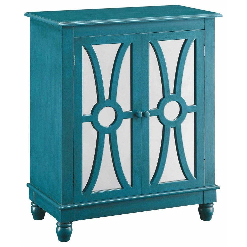Accent Furniture Clairemont Turquoise 2 Door Cabinet by Crestview Collection at Factory Direct Furniture