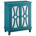 Crestview Collection Accent Furniture Clairemont Turquoise 2 Door Cabinet - Item Number: CVFZR1020
