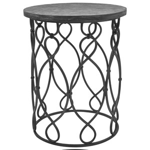 Crestview Collection Accent Furniture Grand Junction Wood U0026 Metal Table