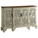 Crestview Collection Accent Furniture Hawthorne Antique White 4 Door Sideboard - Item Number: CVFZR1075