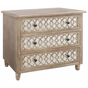 Crestview Collection Accent Furniture Veranda 3 Drawer Sandstone And Mirror Chest