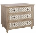 Crestview Collection Accent Furniture Veranda 3 Drawer Sandstone And Mirror Chest - Item Number: CVFZR1212