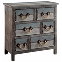 Crestview Collection Accent Furniture Nantucket 6 Drawer Weathered Wood Chest - Item Number: CVFZR1244