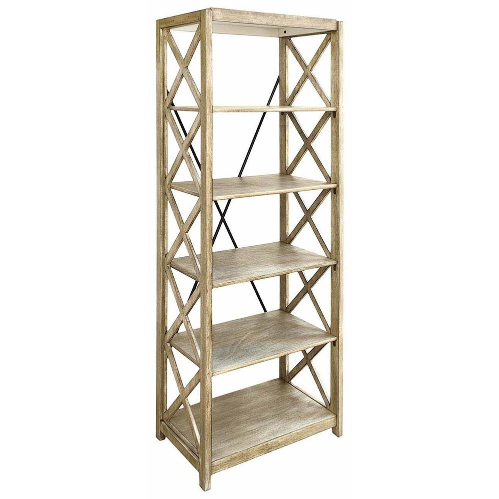 Accent Furniture Brookline Tall Etagere by Crestview Collection at Factory Direct Furniture