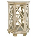 Crestview Collection Accent Furniture Brookline Hexagon Accent Table - Item Number: CVFZR1257