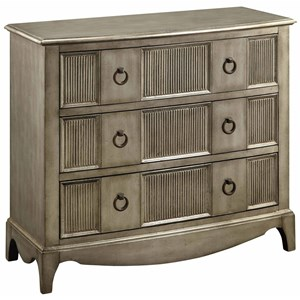 Crestview Collection Accent Furniture Beverly Gold Leaf 3 Drawer Chest