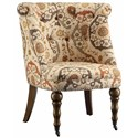 Crestview Collection Accent Furniture Hutchison Pattern Fabric Chair - Item Number: CVFZR1303