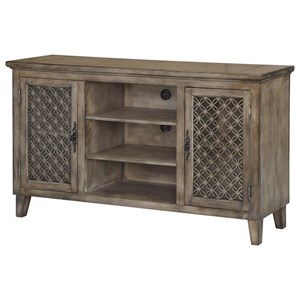 Crestview Collection Accent Furniture Galloway 2 Door Wood Veneer Media Console