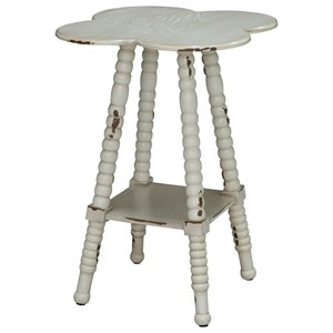 Crestview Collection Accent Furniture Clover Shaped Accent Table