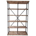 Crestview Collection Accent Furniture La Salle Metal and Wood Bookshelf - Item Number: CVFZR1498