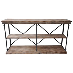 Crestview Collection Accent Furniture La Salle Metal And Wood Console