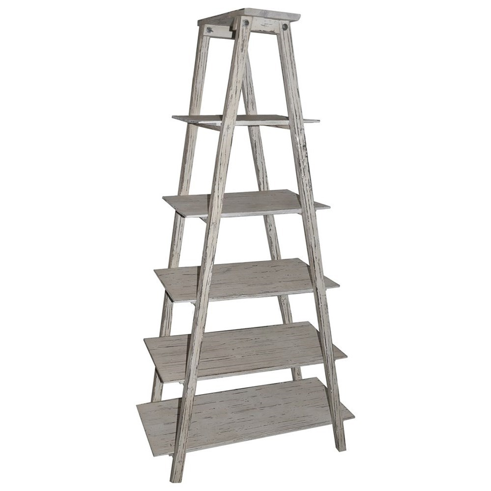 Accent Furniture Shelby Ladder Etagere by Crestview Collection at Factory Direct Furniture