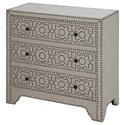 Crestview Collection Accent Furniture Springfield 3 Drawer Nailhead Chest - Item Number: CVFZR1508