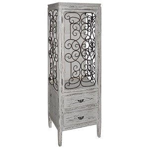Crestview Collection Accent Furniture Santa Rosa Distressed Metal And Wood Cabinet
