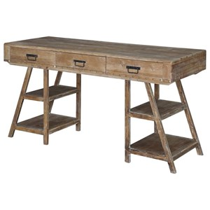 Crestview Collection Accent Furniture Jackson A Frame Rustic Desk