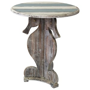 Crestview Collection Accent Furniture Nantucket Seahorse Accent Table